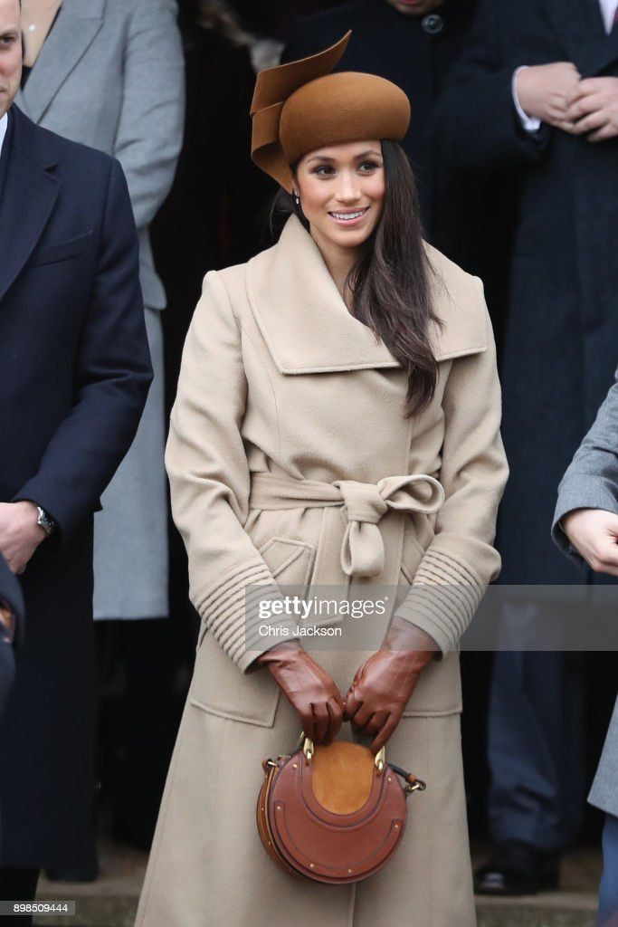 Members Of The Royal Family Attend St Mary Magdalene Church In Sandringham : Fotografía de noticias