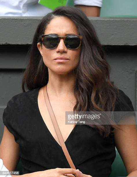 Meghan Markle attends day eight of the Wimbledon Tennis Championships at Wimbledon on July 04 2016 in London England