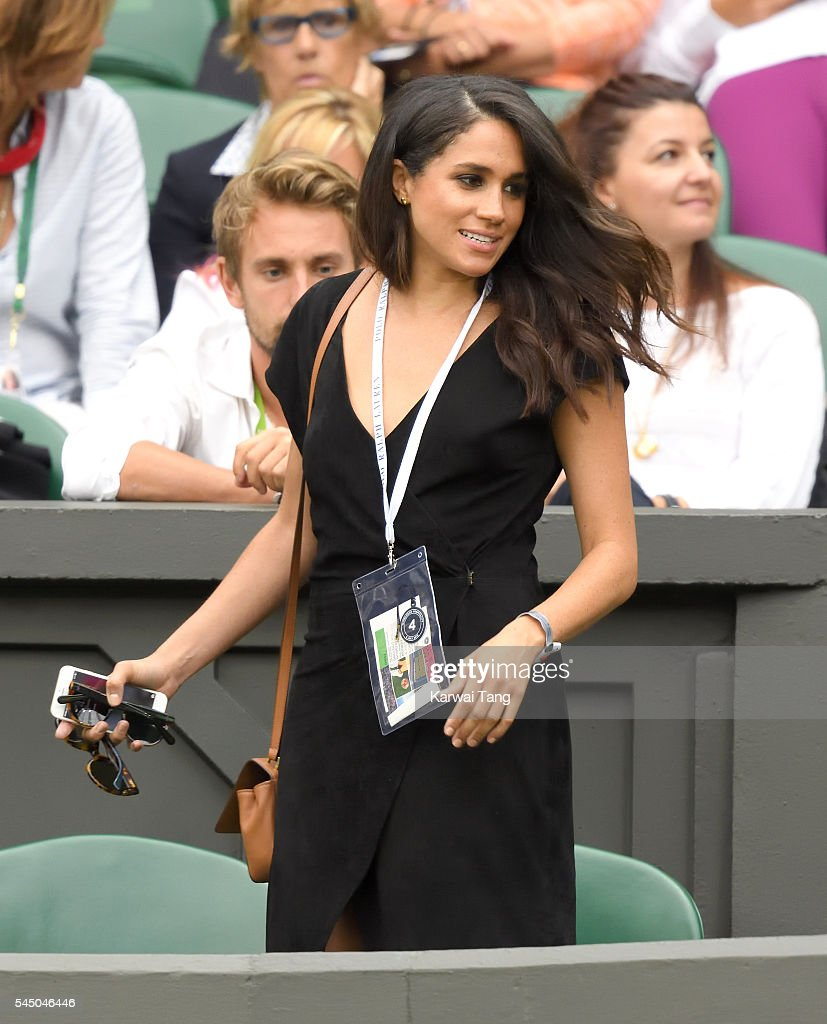 Celebrities Attend Wimbledon : Fotografía de noticias