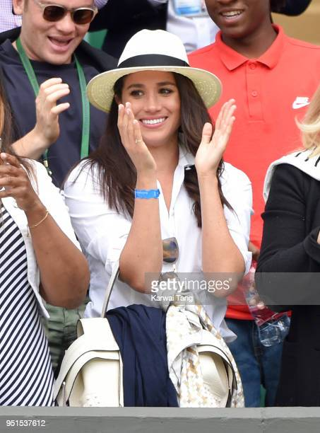 Meghan Markle attends day two of the Wimbledon Tennis Championships at Wimbledon on June 28 2016 in London England