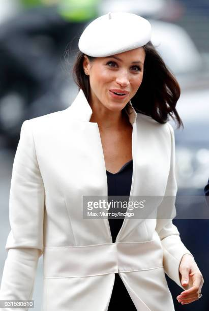 Meghan Markle attends the 2018 Commonwealth Day service at Westminster Abbey on March 12 2018 in London England