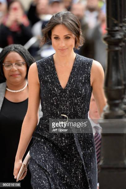 Meghan Markle attends the 25th Anniversary Memorial Service to celebrate the life and legacy of Stephen Lawrence at St Martin-in-the-Fields on April...