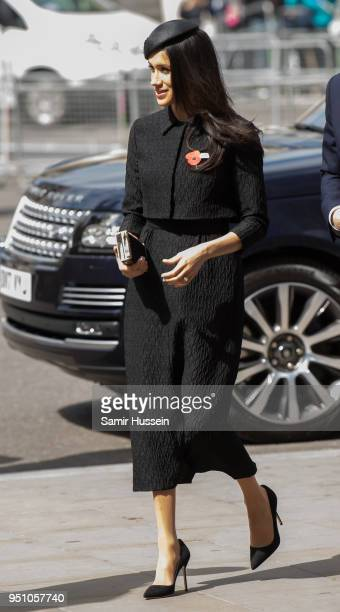 Meghan Markle attends the Anzac Day service at Westminster Abbey on April 25 2018 in London England