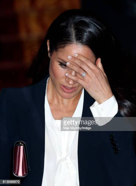 Meghan Markle attends the 'Endeavour Fund Awards' Ceremony at Goldsmiths' Hall on February 1 2018 in London England The awards celebrate the...