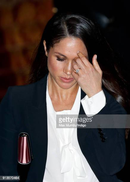 Meghan Markle attends the 'Endeavour Fund Awards' Ceremony at Goldsmiths' Hall on February 1, 2018 in London, England. The awards celebrate the...