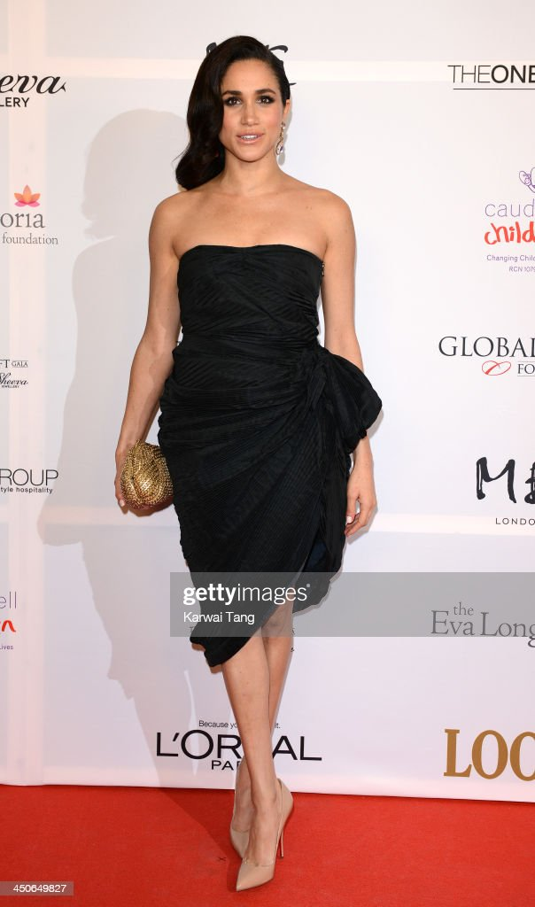 Meghan Markle attends the London Global Gift Gala at ME Hotel on November 19, 2013 in London, England.
