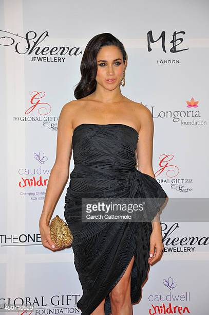 Meghan Markle attends the London Global Gift Gala at ME Hotel on November 19 2013 in London England