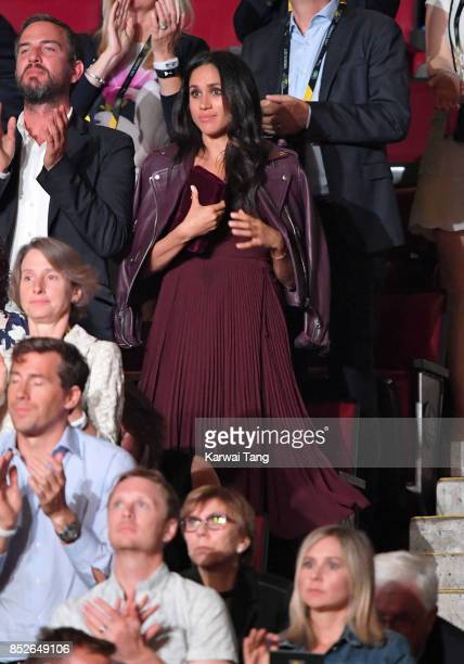 Meghan Markle attends the Opening Ceremony of the Invictus Games Toronto 2017 at the Air Canada Arena on September 23 2017 in Toronto Canada The...