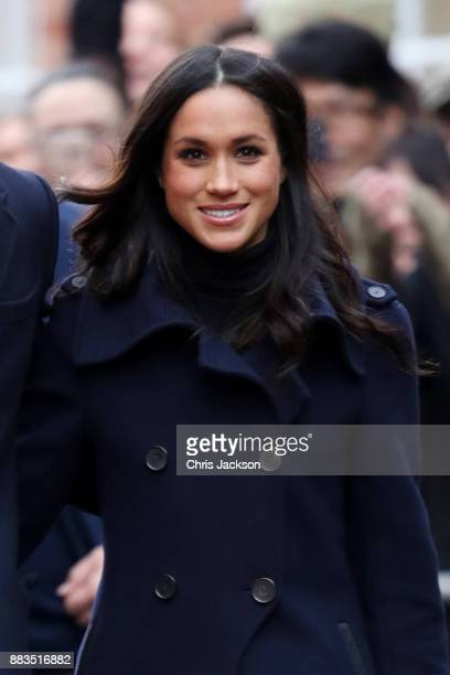 Meghan Markle attends the Terrance Higgins Trust World AIDS Day charity fair at Nottingham Contemporary on December 1 2017 in Nottingham England...