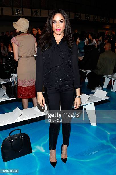 Meghan Markle attends the Tory Burch fashion show during Mercedes-Benz Fashion Week Spring at David H. Koch Theater at Lincoln Center on September...