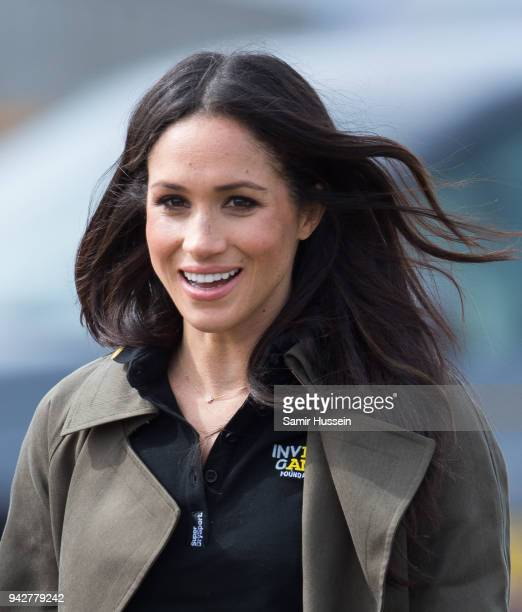 Meghan Markle attends the UK Team Trials for the Invictus Games Sydney 2018 at University of Bath on April 6, 2018 in Bath, England.