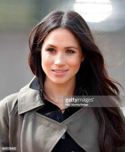 Meghan Markle attends the UK Team Trials for the Invictus Games Sydney 2018 at the University of Bath on April 6 2018 in Bath England