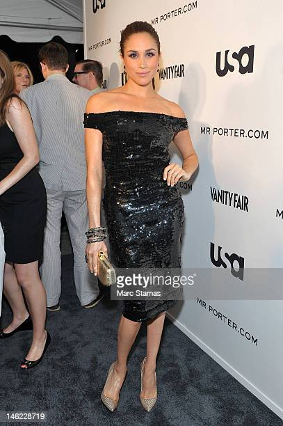 Meghan Markle attends the USA Networks a 'Suits' Story Fashion Show on June 12 2012 in New York City