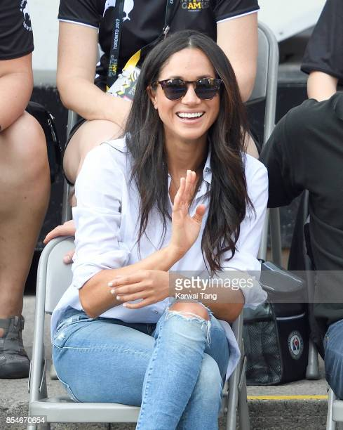 Meghan Markle attends the Wheelchair Tennis on day 3 of the Invictus Games Toronto 2017 at Nathan Philips Square on September 25, 2017 in Toronto,...