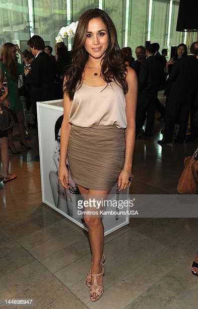 Meghan Markle attends USA Network Upfront 2012 after party at Alice Tully Hall at Lincoln Center on May 17 2012 in New York City