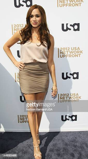 Meghan Markle attends USA Network Upfront 2012 arrivals at Alice Tully Hall at Lincoln Center on May 17 2012 in New York City