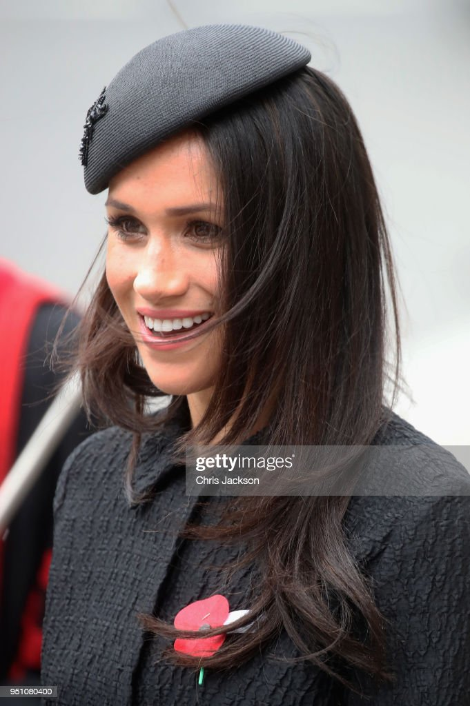 Meghan Markle departs after attending an Anzac Day Service of Commemoration and Thanksgiving at Westminster Abbey on April 25, 2018 in London, England. Anzac Day commemorates Australian and New Zealand casualties and veterans of conflicts and marks the anniversary of the landings in the Dardanelles on April 25, 1915 that would signal the start of the Gallipoli Campaign during the First World War.