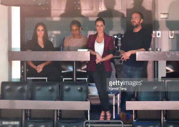 Meghan Markle Doria Ragland Jessica Mulroney and Markus Anderson are seen at the Closing Ceremony on day 8 of the Invictus Games Toronto 2017 at the...