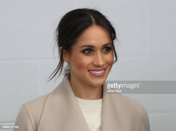 Meghan Markle during her visit to the Eikon Centre wuith Prince Harry to attend an event to mark the second year of the youthled peacebuilding...