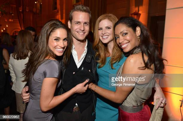Meghan Markle Gabriel Macht Sarah Rafferty and Gina Torres attend the InStyle and Hollywood Foreign Press Association's Toronto International Film...