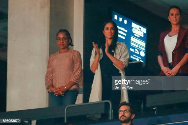 Meghan Markle, girlfriend of Prince Harry watches the Invictus Games Closing Ceremony. September 30, 2017.