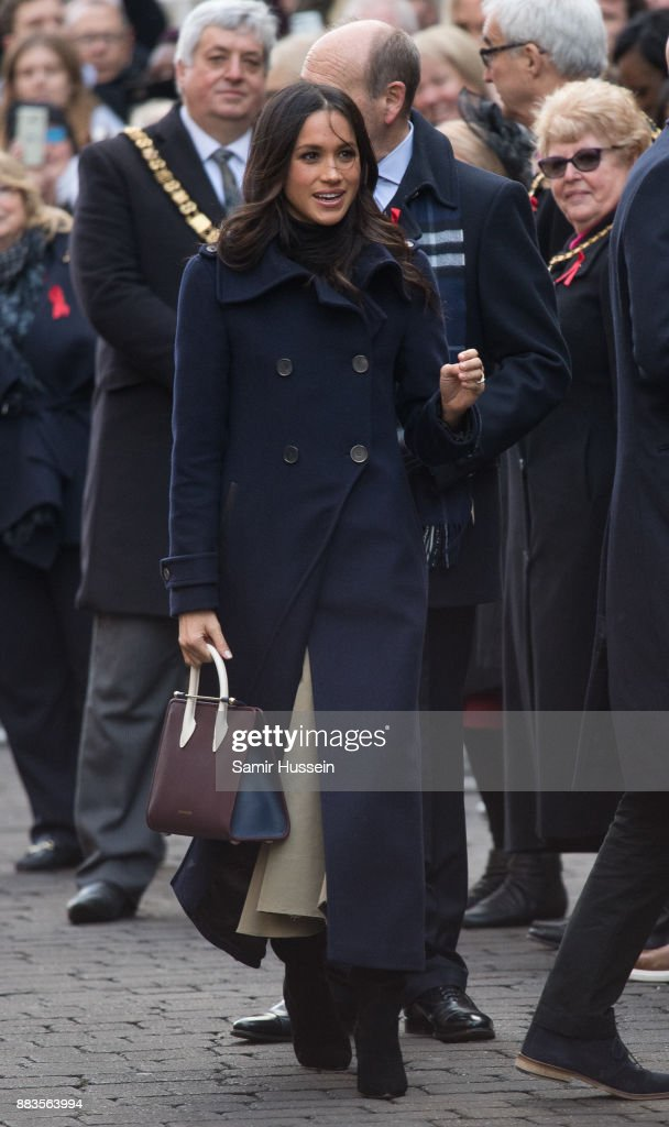 Meghan Markle goes on a walk about at Nottingham Contemporary on December 1, 2017 in Nottingham, England. Prince Harry and Meghan Markle announced their engagement on Monday 27th November 2017 and will marry at St George's Chapel, Windsor Castle in May 2018.