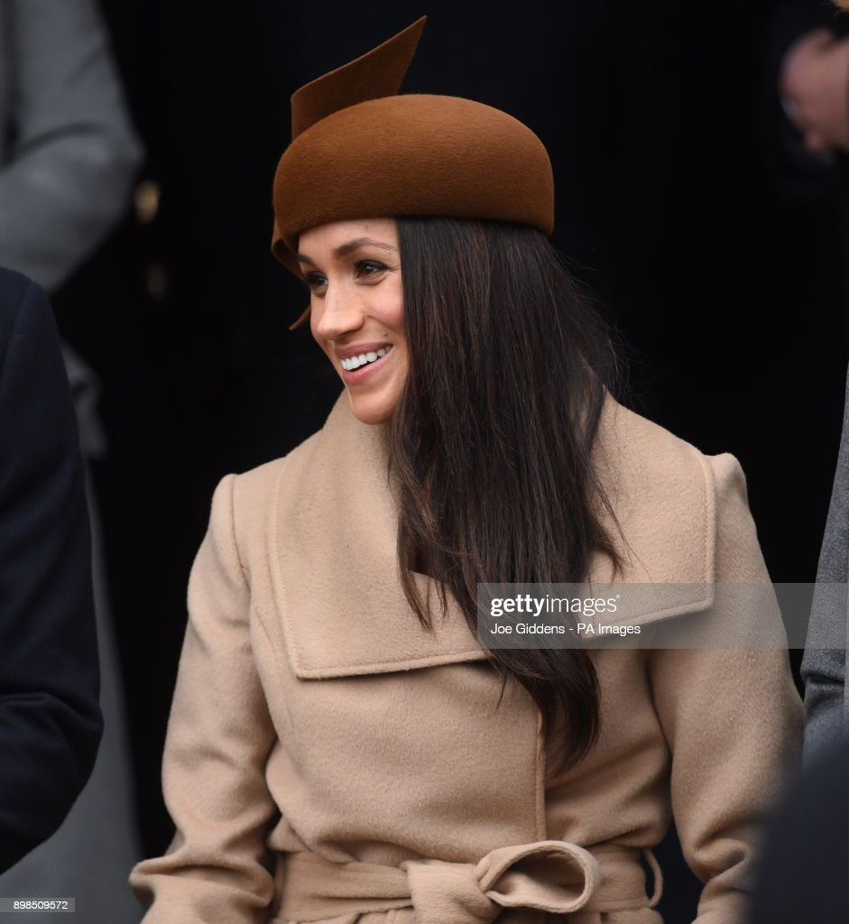 Meghan Markle leaves the Christmas Day morning church service at St ... bb2eab1c8dc7