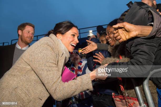 Meghan Markle meets members of the public following a visit to Reprezent 1073FM in Pop Brixton on January 9 2018 in London England The Reprezent...