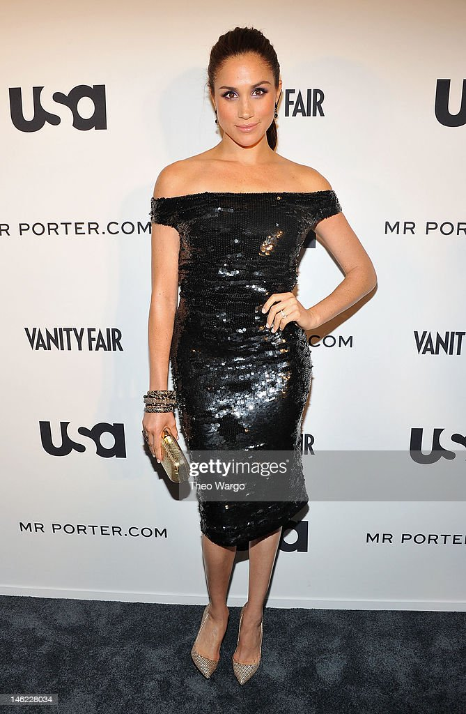 Meghan Markle of Suits attends USA Network and Mr Porter.com Present 'A Suits Story' on June 12, 2012 in New York, United States.