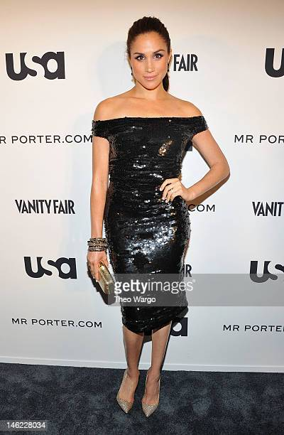 Meghan Markle of Suits attends USA Network and Mr Portercom Present 'A Suits Story' on June 12 2012 in New York United States