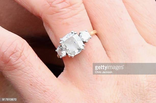 Meghan Markle rings detail visits Edinburgh Castle on February 13 2018 in Edinburgh Scotland