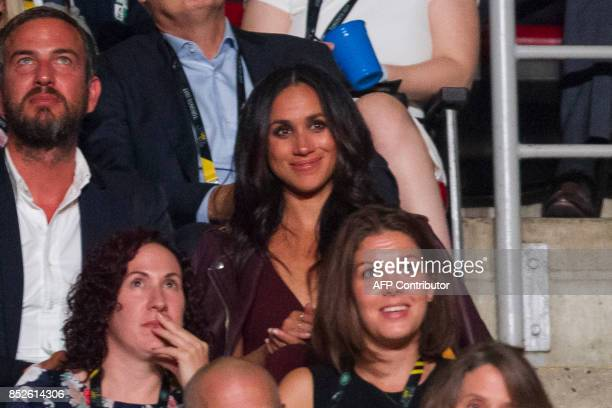 Meghan Markle said to be Prince Harry's girlfriend watches the opening ceremonies of the Invictus Games in Toronto Ontario September 23 2017 Since...