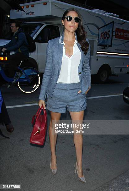 Meghan Markle seen at NBC's Today Show on March 17 2016 in New York City