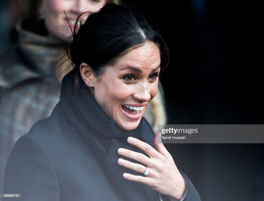Meghan Markle visits Cardiff Castle on January 18, 2018 in Cardiff, Wales.