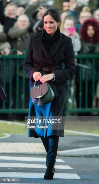 Meghan Markle visits Cardiff Castle on January 18 2018 in Cardiff Wales