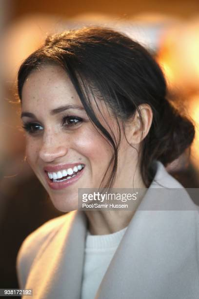 Meghan Markle visits Catalyst Inc Northern Ireland a next generation science park to meet young entrepreneurs and innovators on March 23 2018 in...