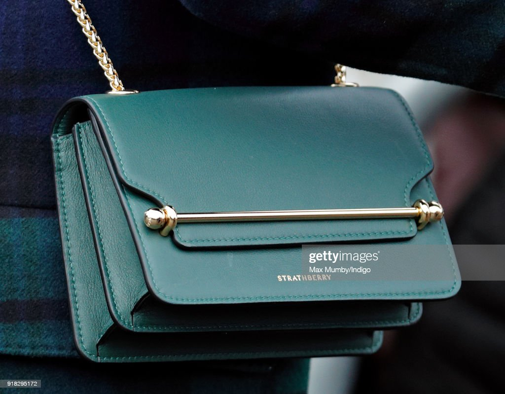 Meghan Markle (handbag detail) visits Edinburgh Castle on February 13, 2018 in Edinburgh, Scotland.