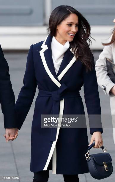 Meghan Markle visits Millennium Point to attend an event celebrating International Women's Day on March 8, 2018 in Birmingham, England.