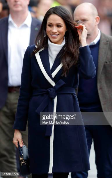 Meghan Markle visits Millennium Point to attend an event celebrating International Women's Day on March 8 2018 in Birmingham England