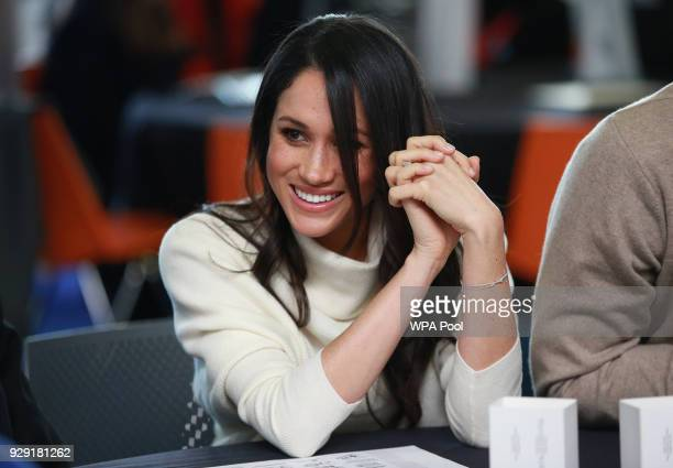 Meghan Markle visits Millennium Point to celebrate International Women's Day on March 8 2018 in Birmingham England