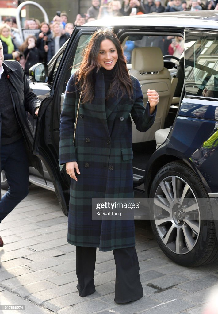 Meghan Markle visits Social Bite, a cafe that donates all profits to social causes, during their first official joint visit to Scotland on February 13, 2018 in Edinburgh, Scotland.