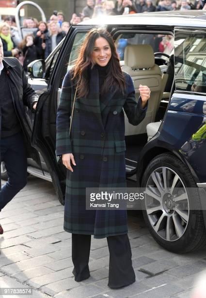 Meghan Markle visits Social Bite a cafe that donates all profits to social causes during their first official joint visit to Scotland on February 13...