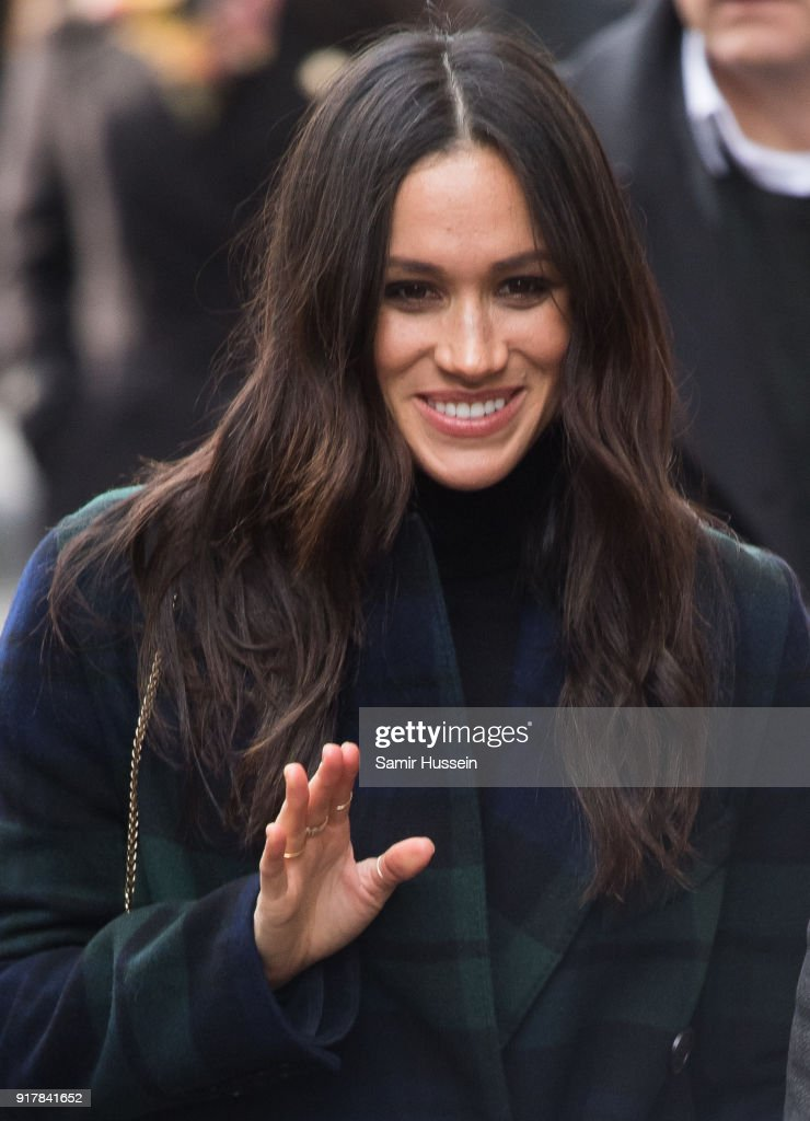 Meghan Markle visits Social Bite, a cafe that donates all profits to social causes, during a visit to Scotland on February 13, 2018 in Edinburgh, Scotland