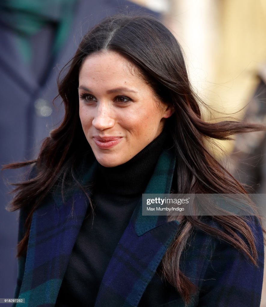 Meghan Markle visits Social Bite on February 13, 2018 in Edinburgh, Scotland.
