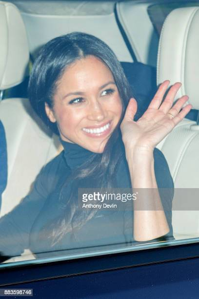 Meghan Markle visits staff and students of the Full Effect programme at Nottingham Academy on December 1 2017 in Nottingham England Prince Harry and...