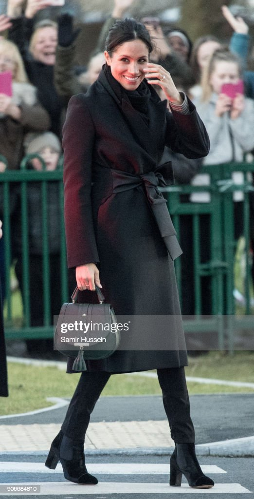 Meghan Markle visits Star Hub on January 18, 2018 in Cardiff, Wales.