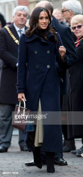 Meghan Markle visits the Nottingham Contemporary on December 1, 2017 in Nottingham, England. Prince Harry and Meghan Markle announced their...