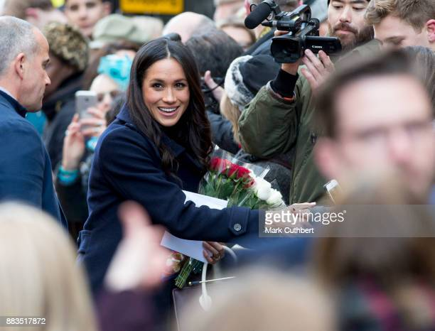 Meghan Markle visits the Nottingham Contemporary on December 1 2017 in Nottingham England Prince Harry and Meghan Markle announced their engagement...