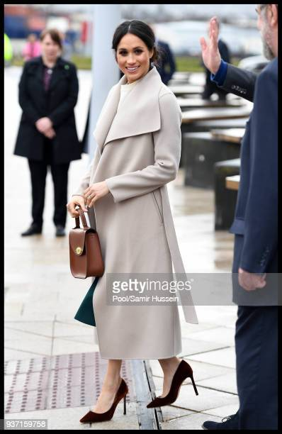 Meghan Markle visits the Titanic Belfast on March 23 2018 in Belfast Nothern Ireland