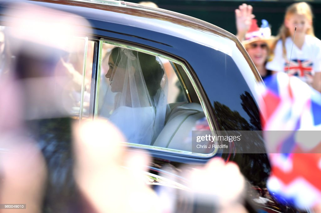 Meghan Markle with arrives at Windsor Castle ahead of her wedding to Prince Harry on May 19, 2018 in Windsor, England. Prince Henry Charles Albert David of Wales marries Ms. Meghan Markle in a service at St George's Chapel inside the grounds of Windsor Castle. Among the guests were 2200 members of the public, the royal family and Ms. Markle's Mother Doria Ragland.